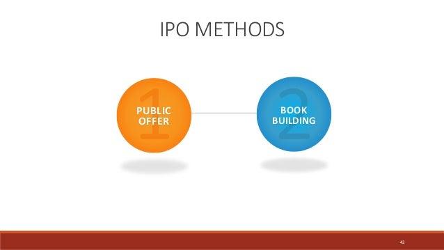 IPO METHODS PUBLIC OFFER BOOK BUILDING 42