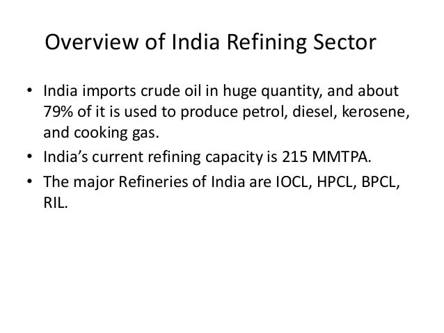 oil refining,oil products and pricing