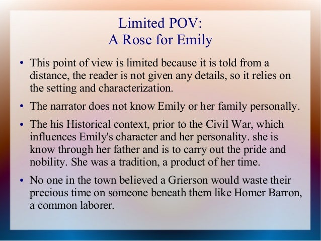 irony a rose for emily In this lesson, we will examine some examples of different types of irony from  william faulkner's short story 'a rose for emily' this is a story.