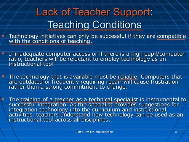 Coffin, Walter, and BriseboisCoffin, Walter, and Brisebois 1010 Lack of Teacher SupportLack of Teacher Support:: Teaching ...