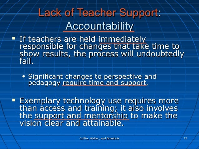 Coffin, Walter, and BriseboisCoffin, Walter, and Brisebois 1212 Lack of Teacher SupportLack of Teacher Support:: Accountab...