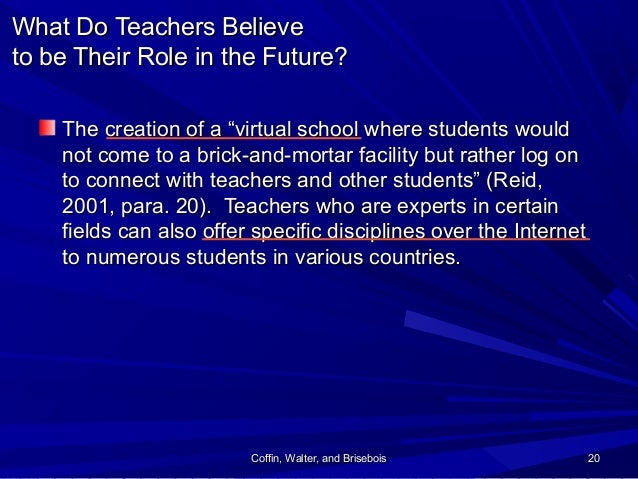 Coffin, Walter, and BriseboisCoffin, Walter, and Brisebois 2020 What Do Teachers BelieveWhat Do Teachers Believe to be The...