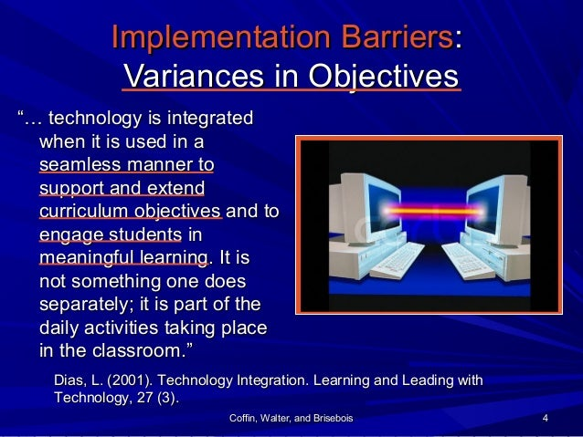 Coffin, Walter, and BriseboisCoffin, Walter, and Brisebois 44 Implementation BarriersImplementation Barriers:: Variances i...