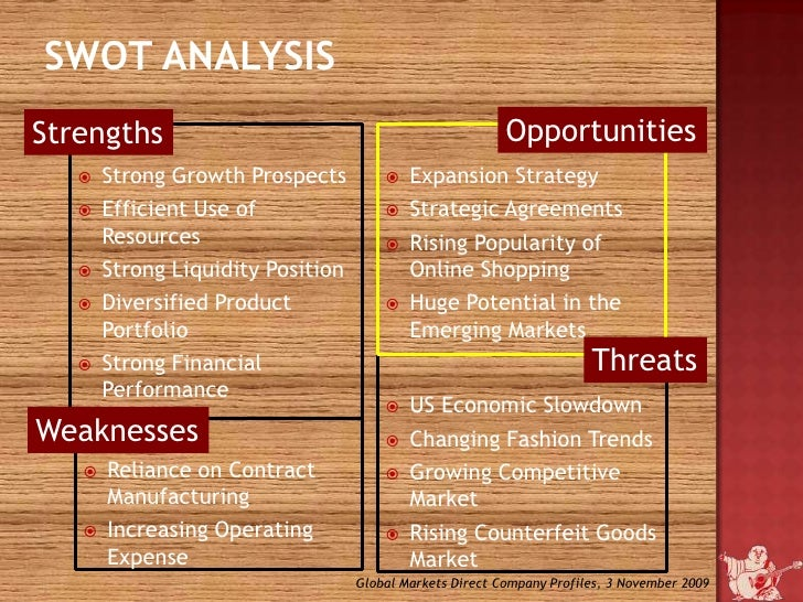 True Religion (TRLG) SWOT Analysis