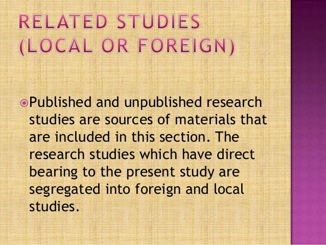 meaning of related literature and studies A literature review can be a precursor to the introduction of a research paper, or it  can be an entire paper in itself, acting as the first  want the full version to study  at home, take to school or just scribble on  don't miss these related articles.
