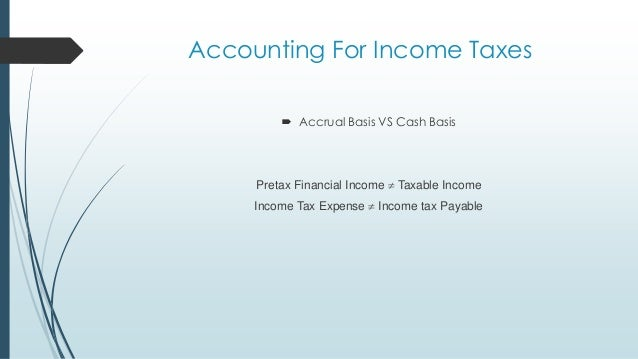 accounting for income tax Chapter 20 accounting for income tax lecture outline the material in this chapter can be covered in three class periods the conceptual issues in this chapter are difficult and the accounting procedures.