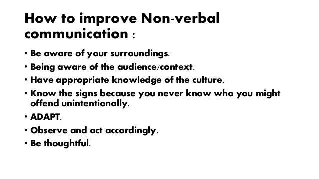 Presentation on Non-Verbal Communication