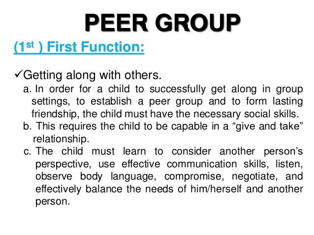 Peer Group (Group 3)