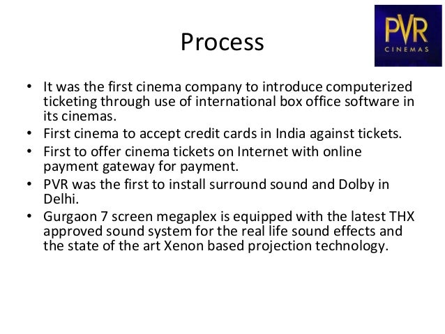 pvr cinema Pvr cinemas - download as word doc (doc / docx), pdf file (pdf), text file (txt) or read online pvr.