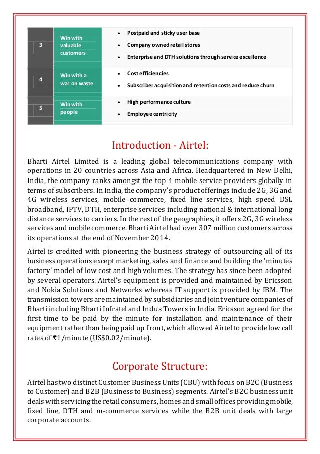 Strategic Management Analysis - Airtel