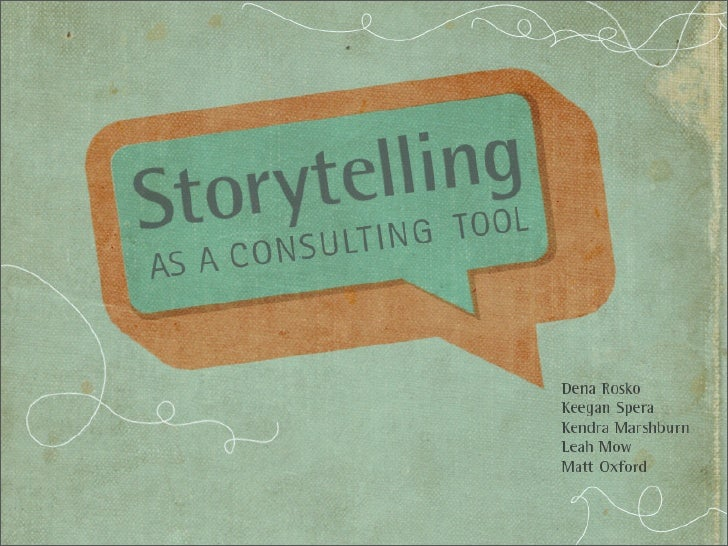 Communication & Leadership Frameworks   • Storytelling from Communication theory  • Group existence  • Using stories to cr...