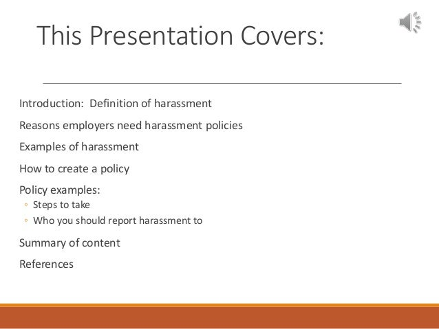 Group 3 company harassment policy