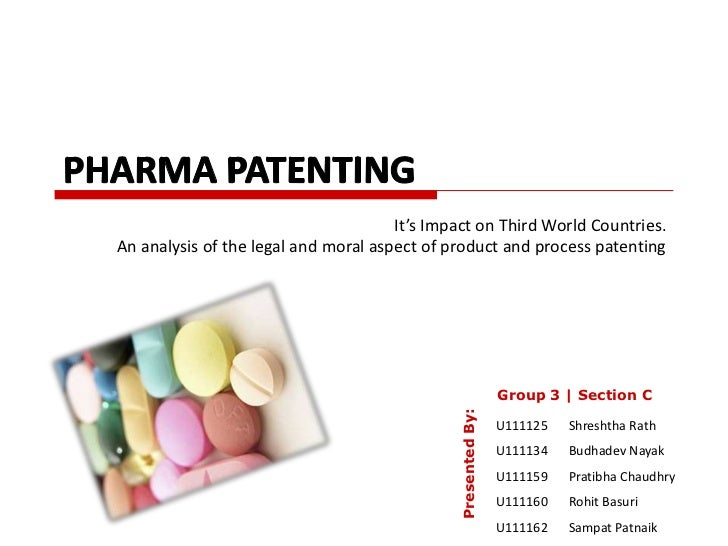 It's Impact on Third World Countries.An analysis of the legal and moral aspect of product and process patenting           ...