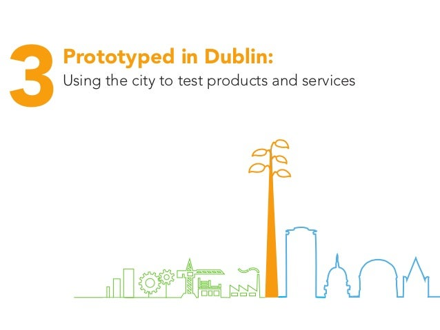 Start ups ou m services funding places events networks 3Using the city to test products and services Prototyped in Dublin: