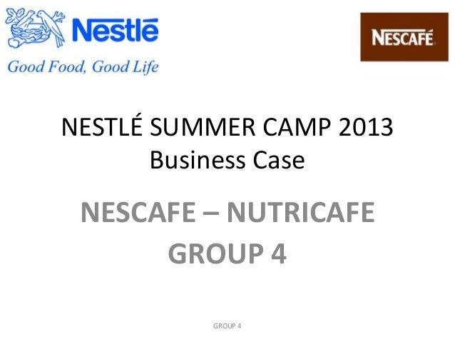 NESTLÉ SUMMER CAMP 2013 Business Case NESCAFE – NUTRICAFE GROUP 4 GROUP 4