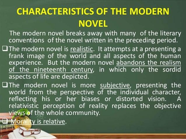 REALISM AND MODERNISM NOVEL