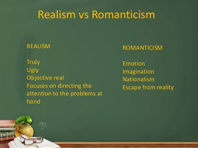 romanticism and realism It is often thought that realism is a particular tendency of victorian fiction, and it is certainly significant that the earliest uses of the word realism to refer to the faithful representation of the real world in literature or art date from the 1850s.