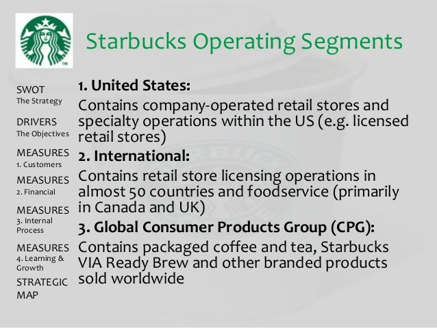 starbucks and the segments of the So now that the market has been divided into four different segments, lets take a better look at the chosen target segment –young urban adults (approximately 18-45 year olds) coffee consumers in the capital area.