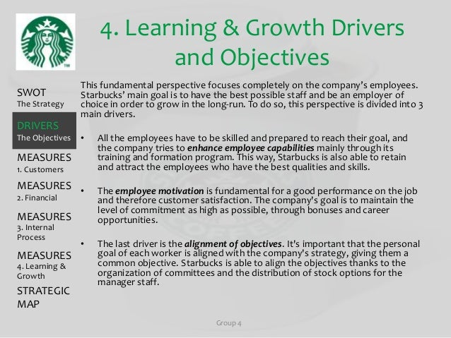 starbucks operational objectives Writing a paper on operations and process in starbucks coffee, use this research paper on operations strategy and process design  accomplish their objectives.