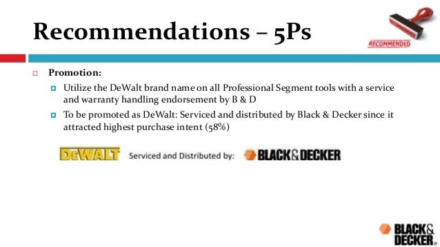 black decker case marketing Brief description of the case black and decker corp as the leading worldwide manufacturer of professional and consumer hand-held power tools communications as the year goes by and scrub brusher produced a new kind of product women mostly purchased this type of product and it was ranged at 60.