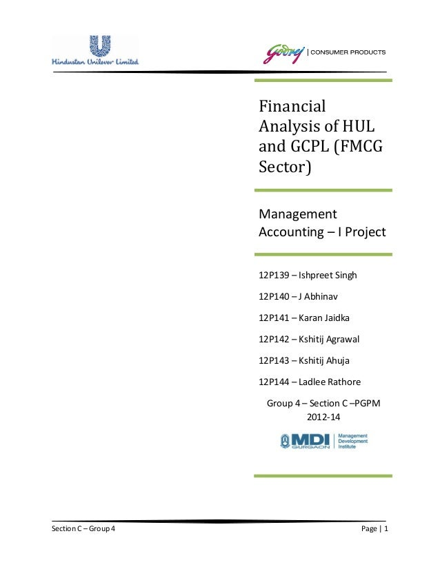 Financial                      Analysis of HUL                      and GCPL (FMCG                      Sector)           ...
