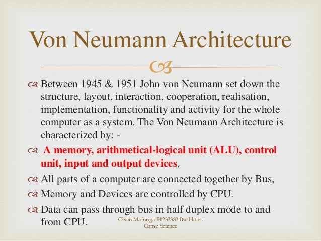 Von neumann vs harvard architecture for Architecture von neumann