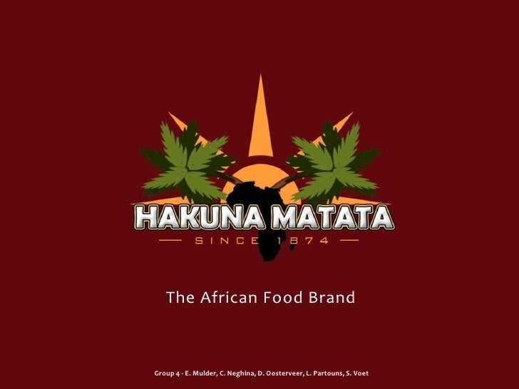 The African Food Brand<br />Group 4 - E. Mulder, C. Neghina, D. Oosterveer, L. Partouns, S. Voet<br />