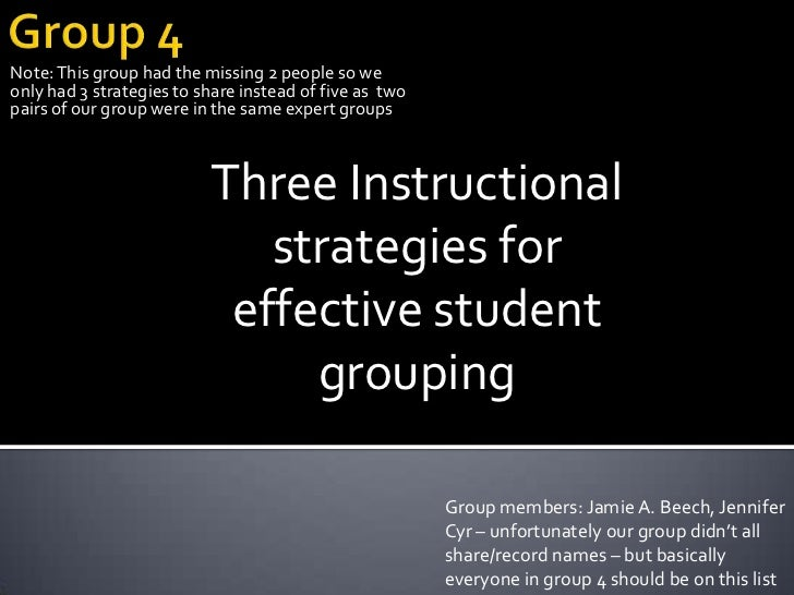 Group 4<br />Note: This group had the missing 2 people so we only had 3 strategies to share instead of five as  two pairs ...