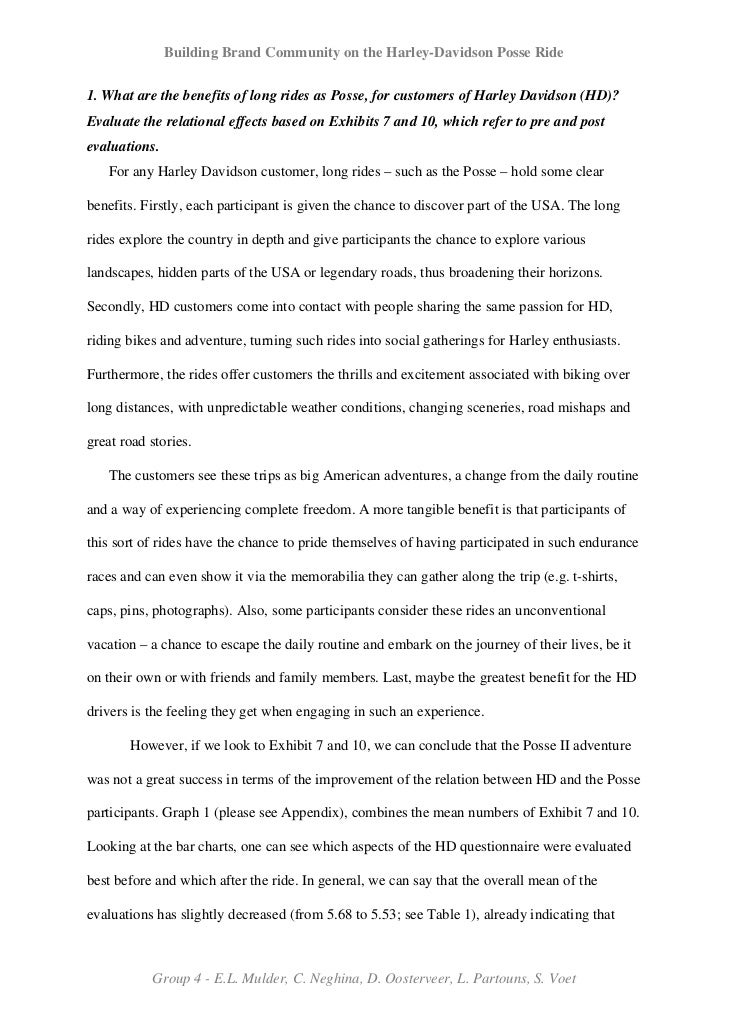 Harley davidson case study answer