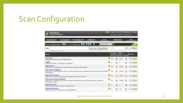 Scan Configuration OpenVAS_Group4_Chandrak-Melbin 26