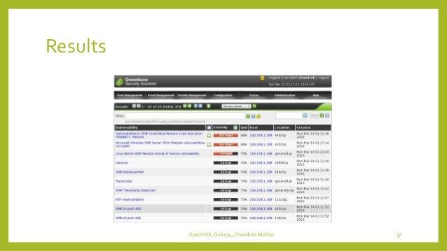 Results OpenVAS_Group4_Chandrak-Melbin 37
