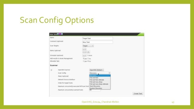 Scan Config Options OpenVAS_Group4_Chandrak-Melbin 43