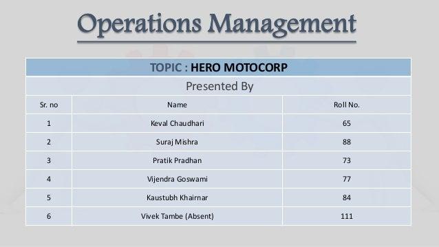 Group 5 hero motocorp