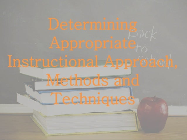 instructional approaches to teaching