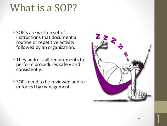 What Is A SOP?