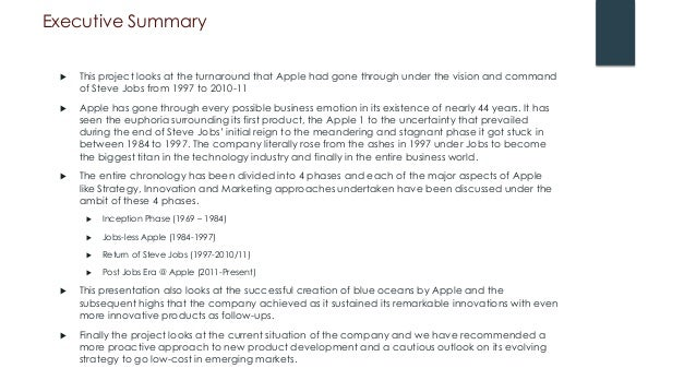 apple executive summary 2013 It is fair to say there is no love lost between apple, inc (nasdaq: aapl) and  in  march 2014, someone leaked a samsung strategy document from 2012  forced  some introspective analysis within samsung's executive team.