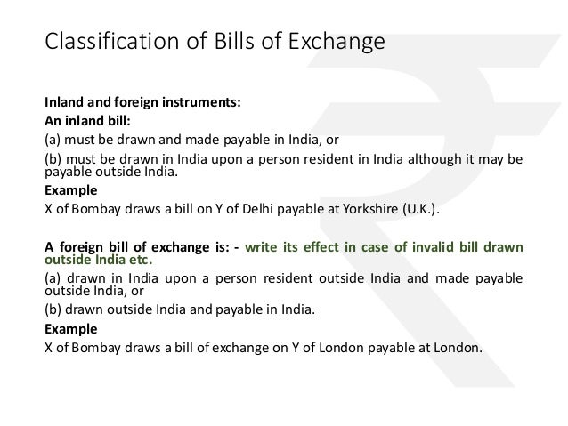 Negotiable instruments only valid in india 32 classification of bills of exchange altavistaventures Gallery