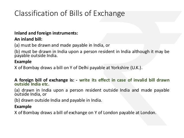 Negotiable instruments only valid in india 32 classification of bills of exchange altavistaventures Images