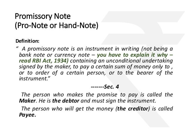 Doc638826 Student Promissory Note Sample Promissory – Indian Promissory Note Format