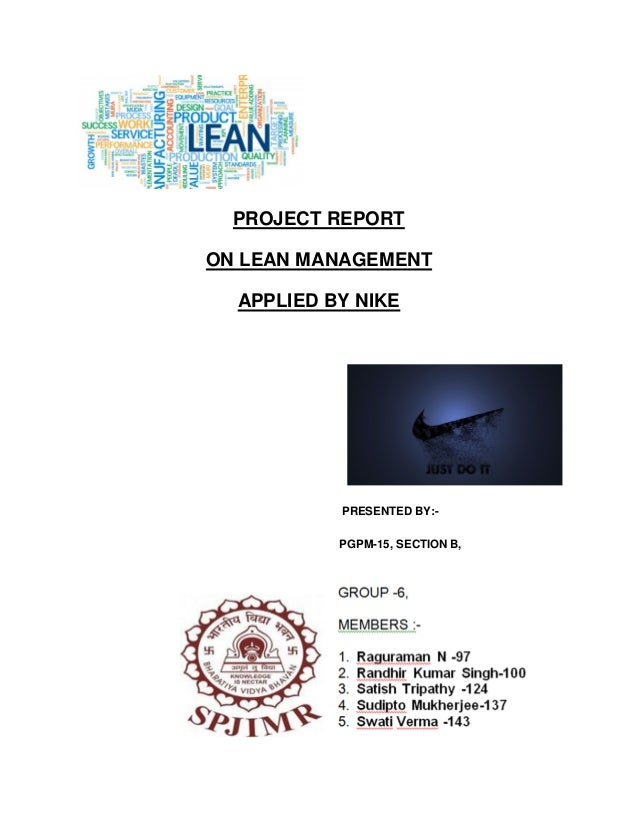 Lean management applied by nike