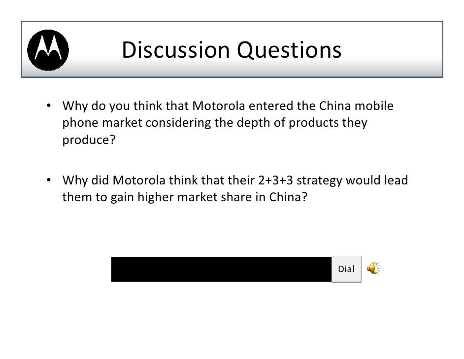 """case study report motorola Case study report - motorola this case is about implementation of a new """" shared vision"""" concept within the analog division of motorola company in 1993 ."""