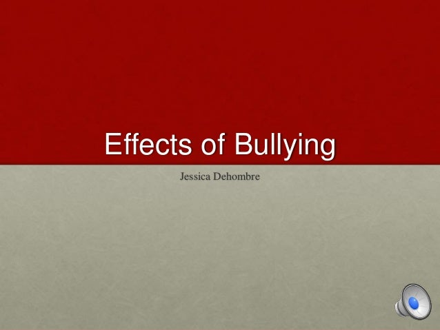 the characteristics and impacts of bullies Have had a major impact on the lives of millions of families, educators, and this eyes on bullying in early childhood characteristics: deliberate - a bully's intention is to hurt someone repeated.