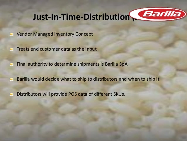 bullwhip efect barilla spa There are two underlying cause of the difficulties that jitd was created to solve: a ) effects of fluctuating demand (bullwhip effect) b) stockouts issue that strain.