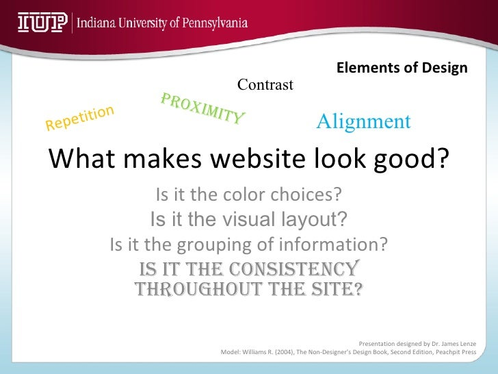 What makes website look good? Is it the color choices? Is it the visual layout? Is it the grouping of information? Is it t...
