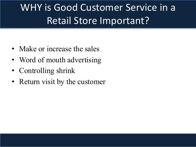good customer service skills in retail