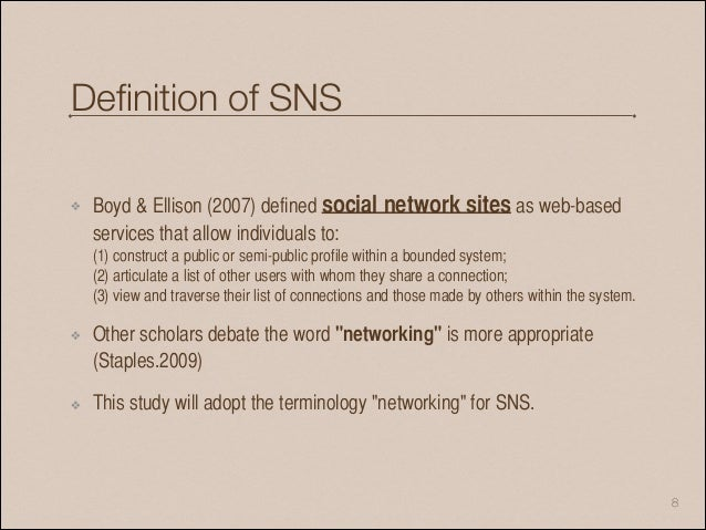 an analysis of boyd ellison Who reads corporate tweets network analysis of follower communities emerged around 1997 (boyd & ellison network analysis was used to study the structural.