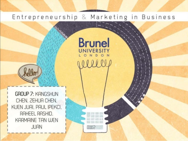 Entrepreneurship and Marketing in Business