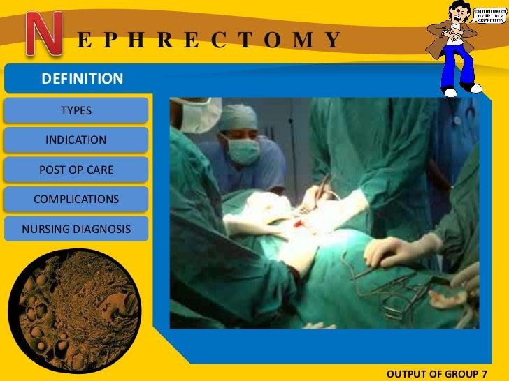 E P H R E C T O M Y   DEFINITION      TYPES   INDICATION  POST OP CARE COMPLICATIONSNURSING DIAGNOSIS                     ...