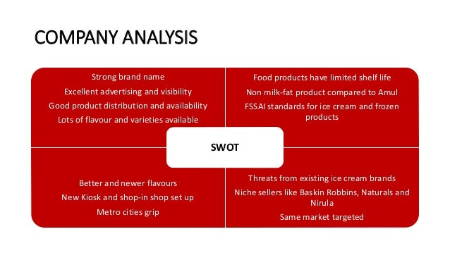 swot analysis of dreyer s company ice cream Free essays on swot analysis of dreyer s ice cream for students use our   strengths •newly established company producing quality product with good taste  •joint.