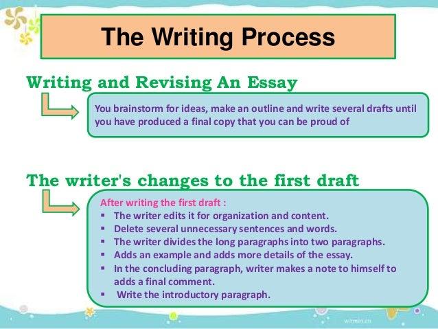 organization of an essay